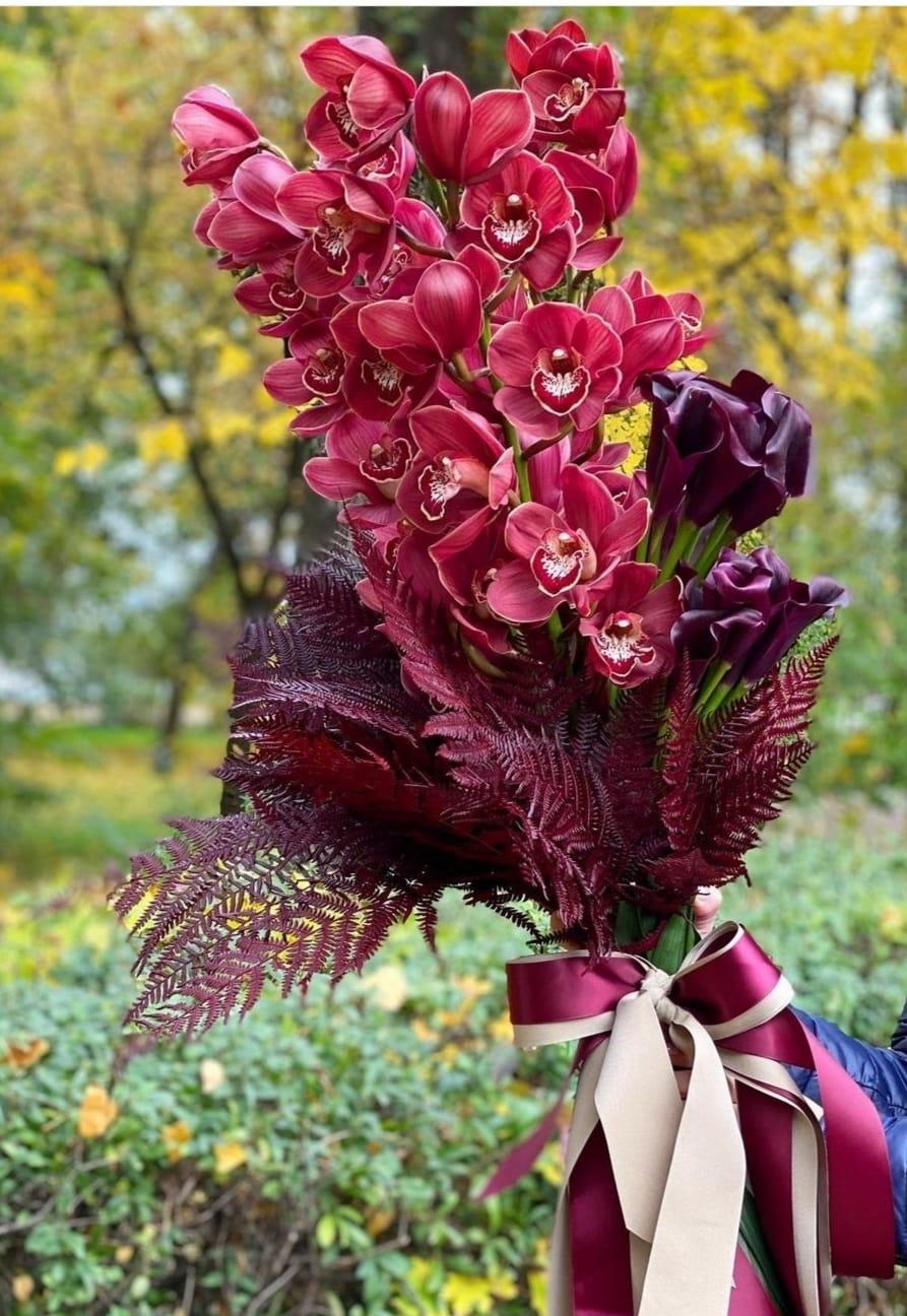 Özel Bordo Orkide ve Gala