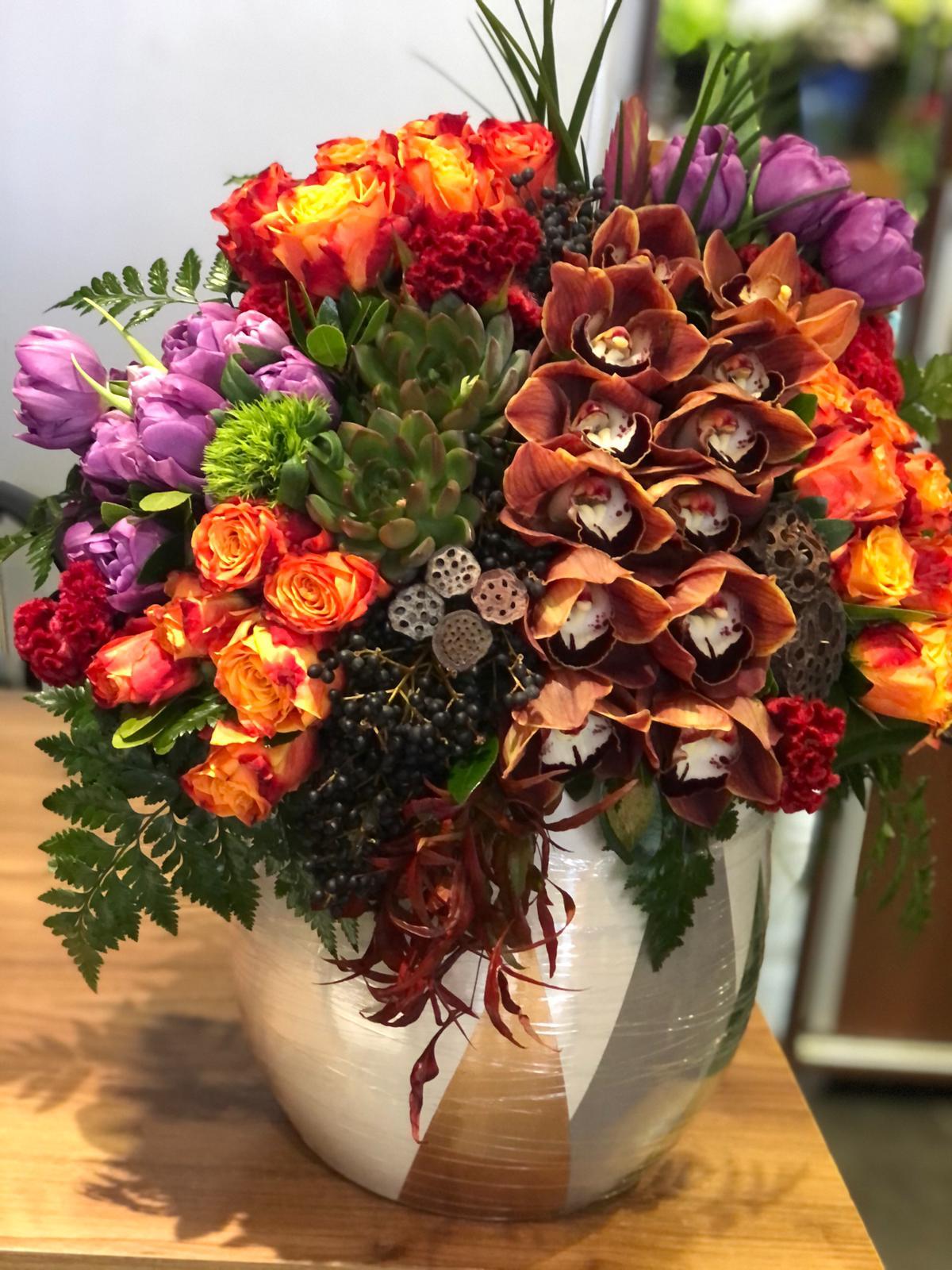 Turuncu Orkide Gül